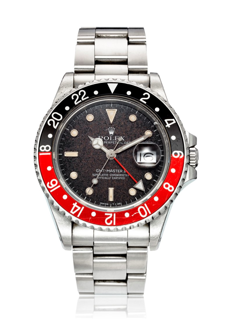 Rolex, GMT-Master II Fat Lady, Ref. 16760. Bracelet 6.9 inches  175mm. Price Realised USD 20,000, 28 June to 12 July 2018, Christies Online